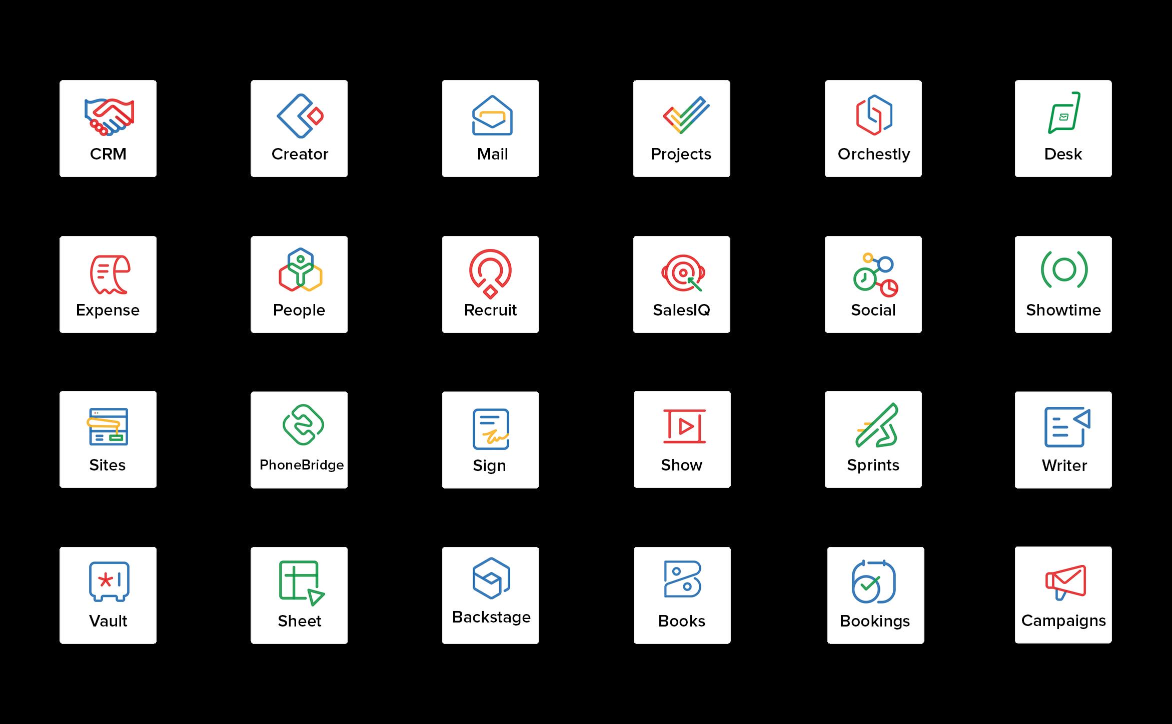 Zoho one Apps